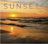 2018 Wall Calendar, Sunsets