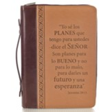 For I Know the Plans Bible Cover, Tan, Large, Spanish