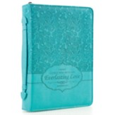 Everlasting Love Bible Cover, Turquoise, Medium