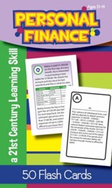 Personal Finance Flash Cards, Ages 13-14