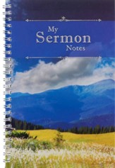 My Sermon Notes Mountains Wirebound Notebook