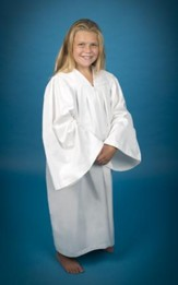 Pleated Baptismal Gown for Children, Medium