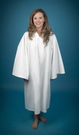Pleated Baptismal Gown for Women, Small - Slightly Imperfect