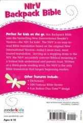 NIrV Backpack Bible, Italian Duo-Tone, pink with dragonfly