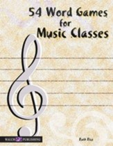 54 Word Games for Music Classes