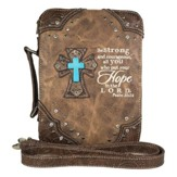 Hope In the Lord, Fashion Cross Bible Cover, Brown