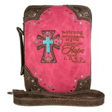 Hope In the Lord, Fashion Cross Bible Cover, Hot Pink
