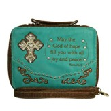Fashion Cross Bible Cover, Turquoise