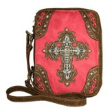 Fashion Cross Bible Cover, Hot Pink