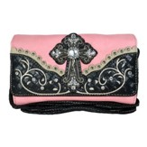 Fashion Cross Wallet, Peace, Black