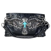 Wing, Fashion Cross Purse, Black