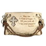 Peace, Fashion Cross Purse, Beige