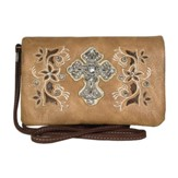 Fashion cross Wallet, Tan, Brown