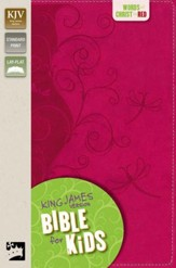 King James Version Bible for Kids, Italian Duo-Tone ™, Pink Vines
