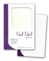 God Girl Bible, Duravella, Deep Purple/Snow White, Tree Design - Slightly Imperfect