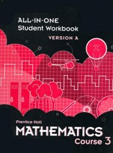 Prentice Hall Mathematics Grade 8 (Course 3) Student  Workbook