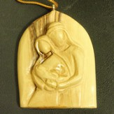 Olivewood Holy Family Ornament