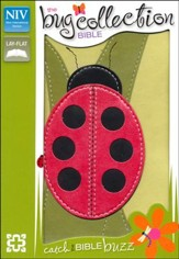 The NIV Bug Collection Bible--soft leather-look, green with ladybug design