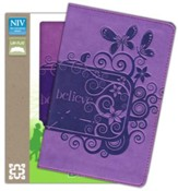 NIV Backpack Bible, Italian Duo-Tone, Pizzazz Purple  - Slightly Imperfect