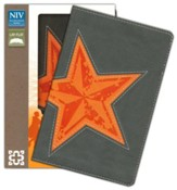 NIV Backpack Bible, Italian Duo-Tone, Galaxy Gray