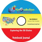 Exploring the 50 States Notebook Journal PDF CD-ROM