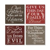 Lord's Prayer Coaster, Set of 4