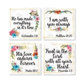 Flower Border Coasters, Set of 4