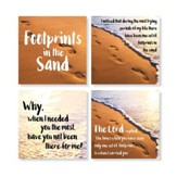 Footprints Coasters, Set of 4