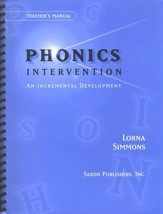 Saxon Phonics Intervention,  Teacher's Manual