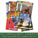 ACE Core Curriculum (4 Subjects), Single Student Complete  PACE & Score Key Kit, Grade 1, 3rd Edition (with 4th Edition  Science & Social Studies)