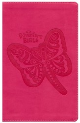 NIrV Adventure Bible, Imitation Leather, Hot Pink with Butterfly - Slightly Imperfect