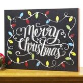 Merry Christmas String Lights, LED Wall Box Sign