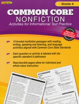 Common Core Nonfiction Activities for Informational Text Practice, Grade 4