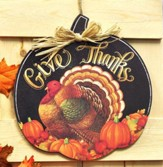 Give Thanks, Pumpkin Door Decor Hanger