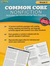 Common Core Nonfiction Activities for Informational Text Practice, Grade 5