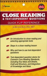 Close Reading & Text-Dependent Questions Quick Flip reference