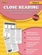 Close Reading Practice Book, Grade 6