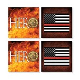 Firefighter Coasters, Set of 4