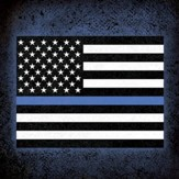 Police Officer, Thin Blue Line Coaster