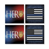 Police Officer Coasters, Set of 4