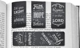Magnetic Chalkboard Bookmarks, Pack of 4