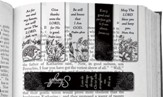 Assorted Magnetic Scripture Black and White Bookmarks, Pack of 6