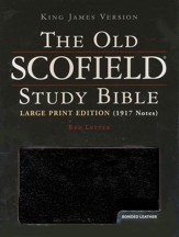 KJV Old Scofield Study Bible, Large Print, Bonded leather, Black,  Thumb-Indexed - Imperfectly Imprinted Bibles
