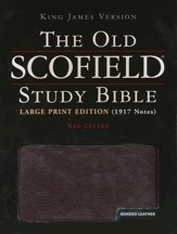 KJV Old Scofield ® Study Bible, Large Print, Bonded leather, Burgundy