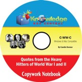 Famous Quotes from the Heavy Hitters of World War I and II Copywork Notebook PDF CD-ROM