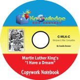 Martin Luther King Jr. Copywork Notebook PDF CD-ROM