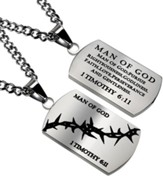 Man of God Crown of Thorns Dog Tag