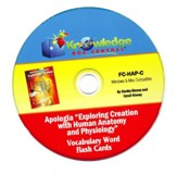 Exploring Creation with Human Anatomy & Physiology Vocabulary Flash Cards PDF CD-ROM