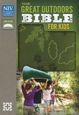 NIV, The Great Outdoors Bible for Kids, Italian Duo-Tone, Leaf Green - Slightly Imperfect
