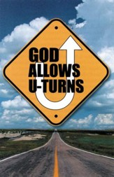 God Allows U-Turns (NIV), Pack of 25 Tracts